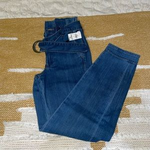 Express Super High Rise Paperbag Jeans